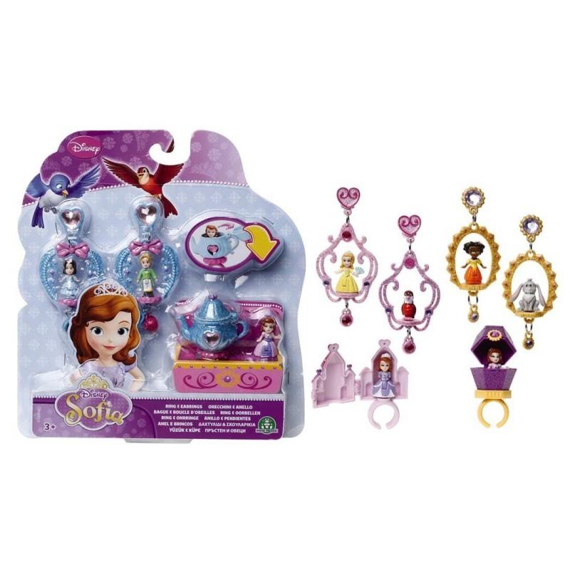 sofia orecchini e anello con mini personaggi